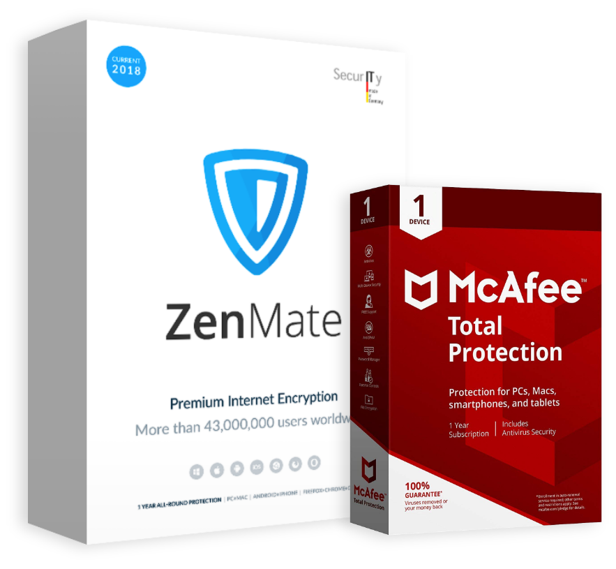ZenMate with McAffee total protection